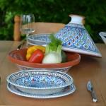 Service tajine assiettes creuses Bakir turquoise - 6 pers
