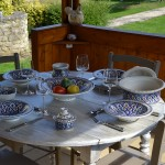 Service à couscous assiettes Tebsi Bakir bleu - 8 pers