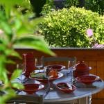 Service à couscous assiettes Tebsis Tatoué rouge - 8 pers