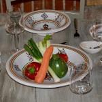 Service à couscous assiettes creuses Sahel beige - 8 pers