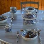 Service à soupe Bakir bleu - 12 pers