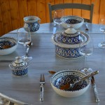 Service à soupe Jileni bleu - 8 pers