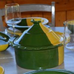 Service à soupe Kerouan jaune et vert - 8 pers