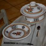6 assiettes creuses Sahel beige - D 24 cm