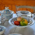 Plat Tebsi Marocain turquoise - D 37 cm
