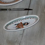 Plat ovale Sahel beige - L 30 cm