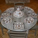 Lot de 6 assiettes plates Sahel beige - D 28 cm