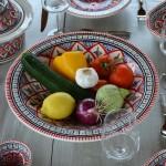 Service à couscous assiettes creuses Bakir rouge - 12 pers