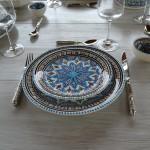 Service à dessert Bakir turquoise - 6 pers