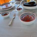Service à salade de fruits Bakir rouge - 6 pers
