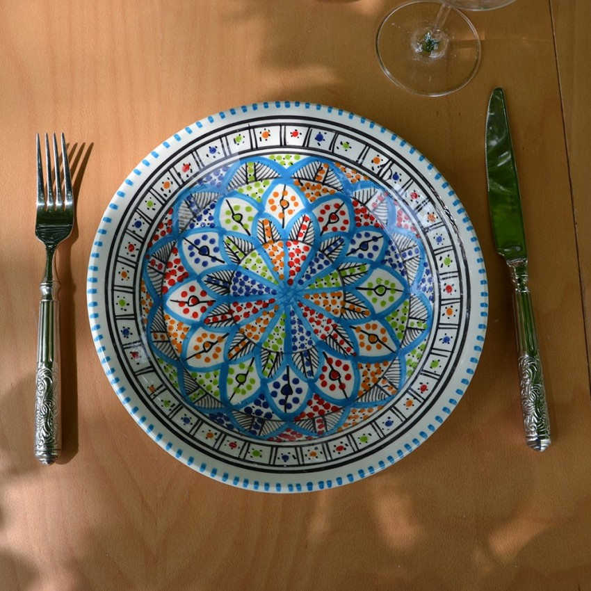 6 assiettes plates Bakir Royal - D 28 cm
