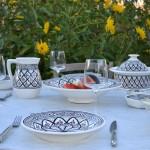 Service à couscous assiettes creuses Bakir gris - 6 pers