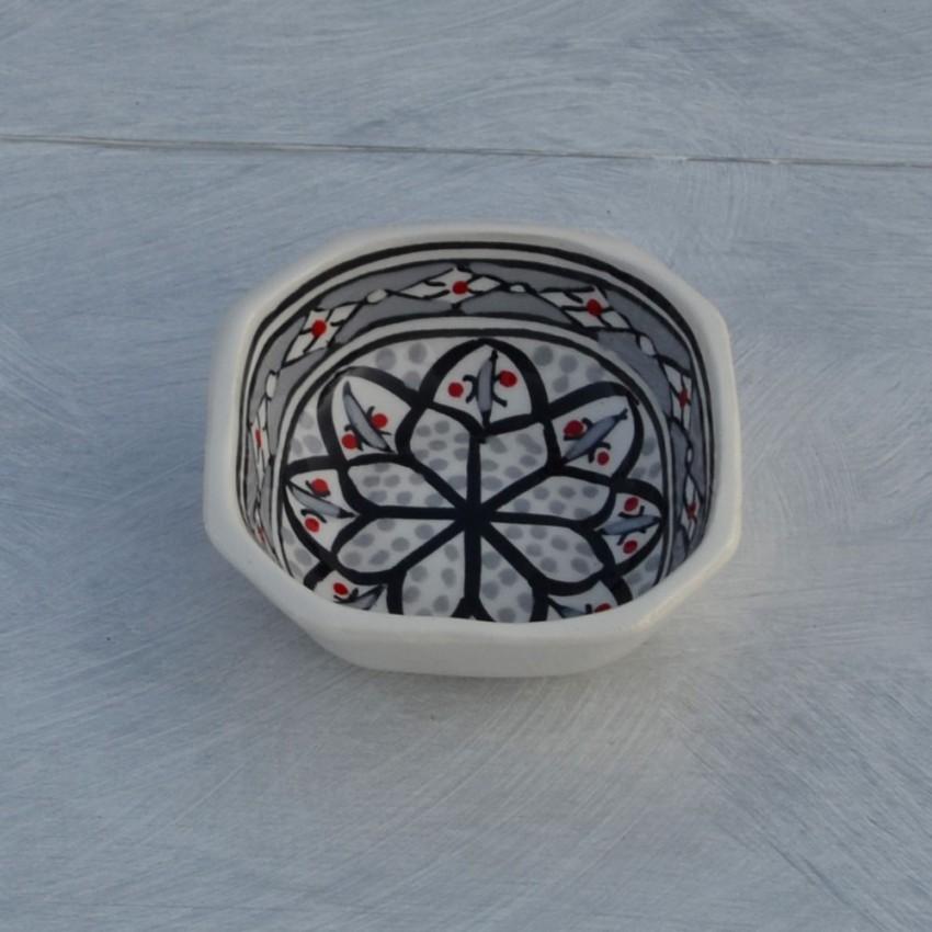 Plat octogonal Bakir gris - L 10 cm