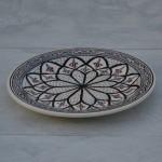 Assiette à entrée ou dessert Bakir gris - D 20 cm