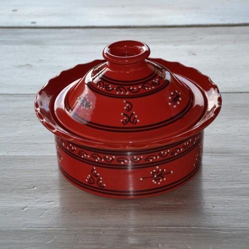 Cocotte Querouana Tatoué rouge - D 20 cm
