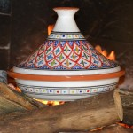 Tajine Bakir rouge - Diam 31 cm traditionnel