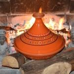 Tajine Marrakech Orange - D 31 cm traditionnel