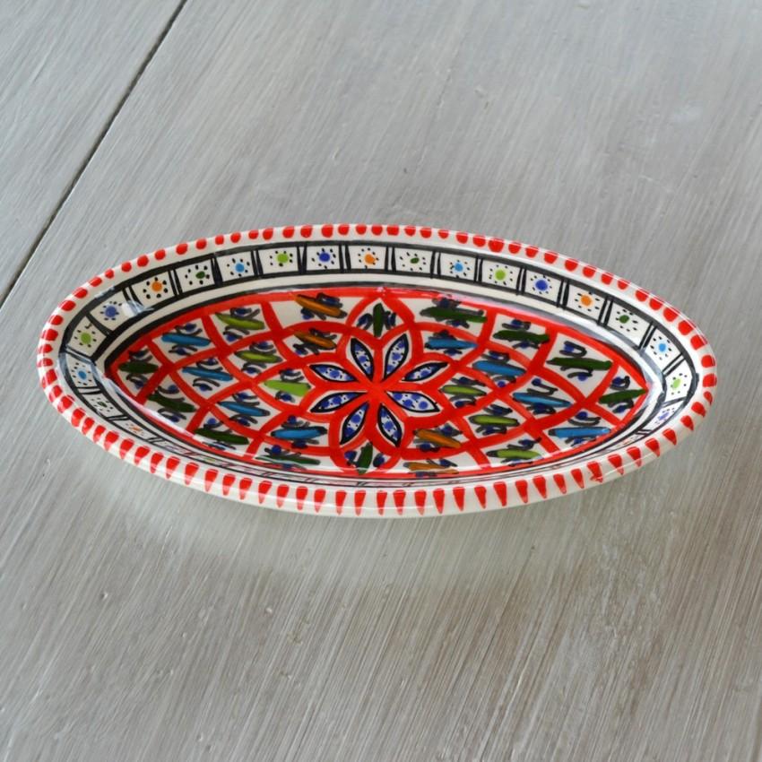 Plat ovale Bakir rouge - L 20 cm