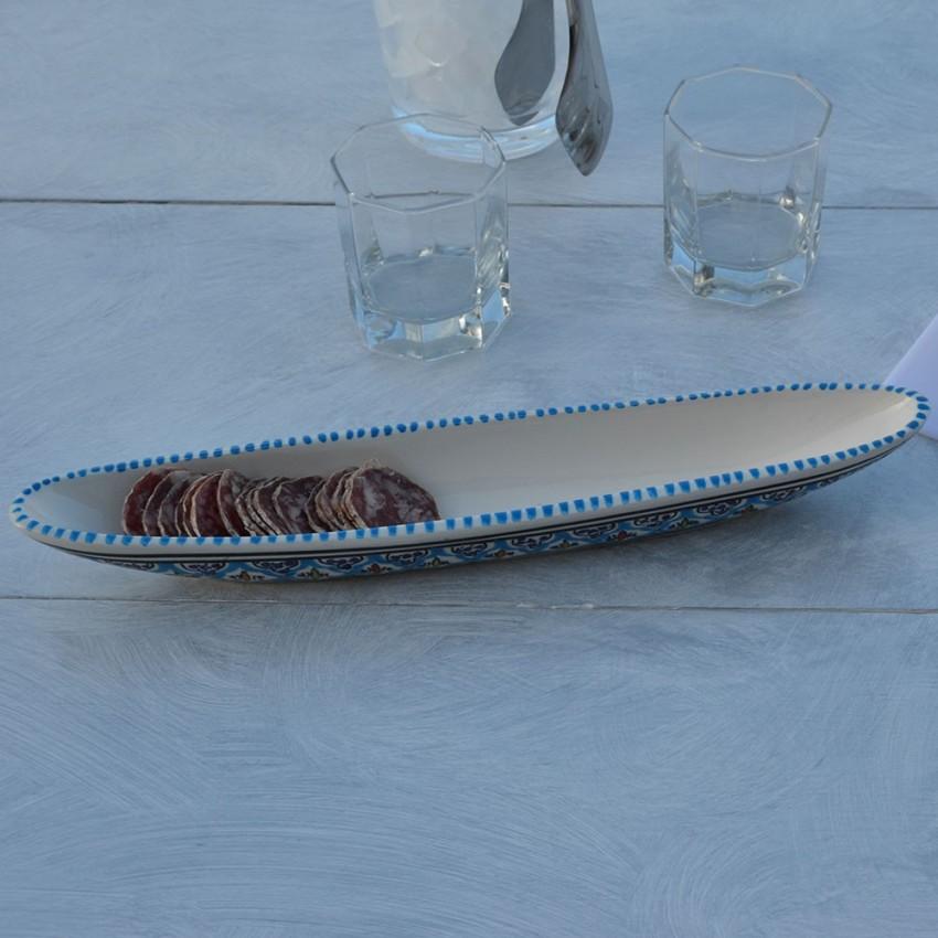Plat baguette Jileni Turquoise L 38 cm