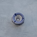 Cendrier anti fumée Tatoué bleu et blanc - Mini modèle