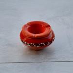 Lot de 2 cendriers anti fumée orange et vert - Mini modèle