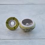 Lot 6 cendriers anti fumée bicolores - Mini modèle