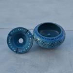 Cendrier anti fumée Marrakech Bleu - Moyen modèle