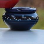 Cendrier marocain Tatoué bleu nuit - Petit modèle