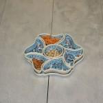 Service apéritif Fleur Marocain Turquoise