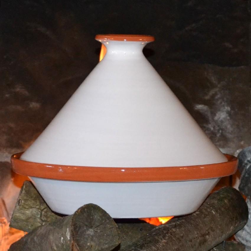 Tajine Spécial Feu Blanc - D 30 cm