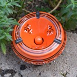 Cendrier Tatoué orange - D 12 cm