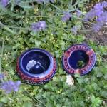 Lot 2 mini cendriers Marrakech bleu nuit et noir - Mini modèle