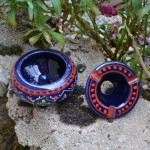 Lot 2 mini cendriers Marrakech bleu nuit et rouge - Mini modèle
