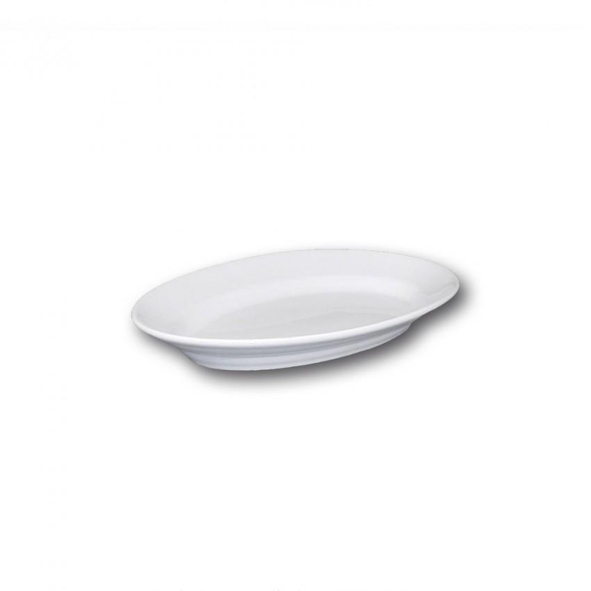 Plat ovale porcelaine blanche - L 25 cm - Tivoli
