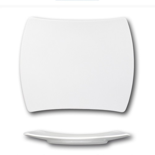 Assiette rectangulaire porcelaine blanche - L 31 cm - Tokio