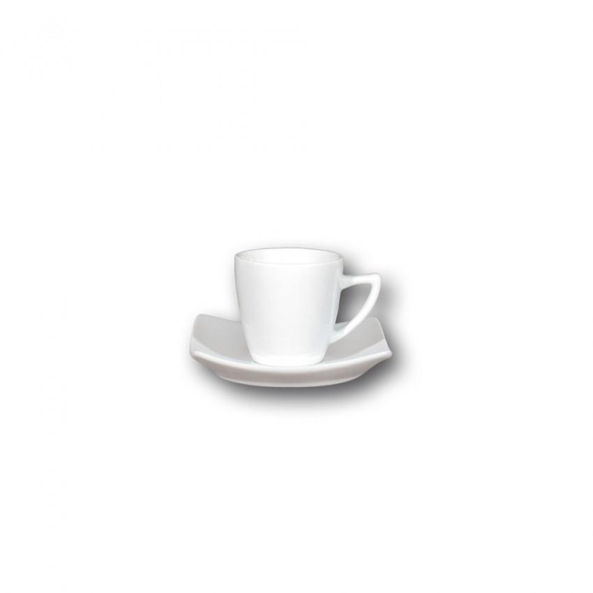 Service à café 6 personnes porcelaine blanche - Tokio