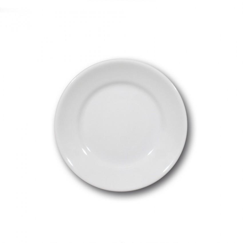 Lot de 6 assiettes à dessert porcelaine blanche - D 20 cm - Tivoli
