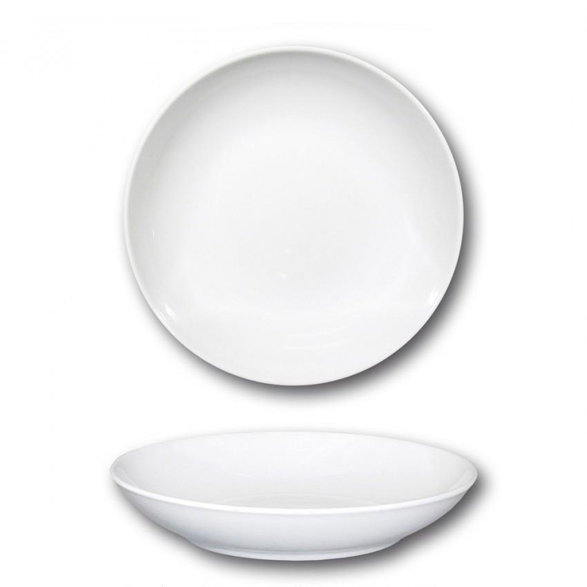 Lot de 6 assiettes à couscous porcelaine blanche - D 26 cm - Napoli