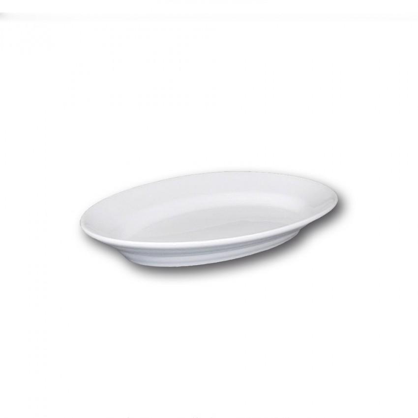 Plat ovale porcelaine blanche - L 28 cm - Tivoli