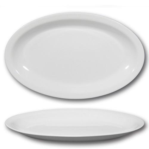 Plat ovale porcelaine blanche - L 36 cm - Roma