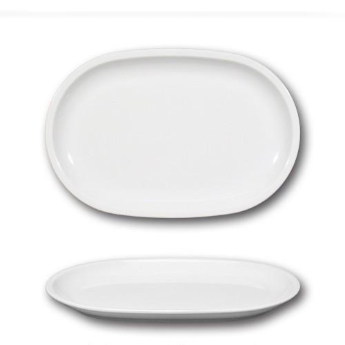 Plat ovale porcelaine blanche - L 28 cm - Roma