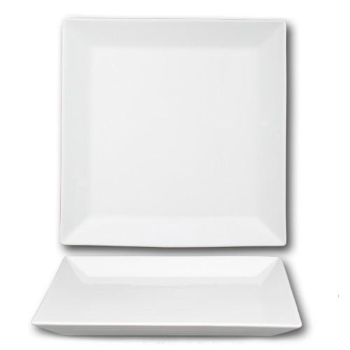 Assiette présentation porcelaine blanche - L 30 cm - Kimi