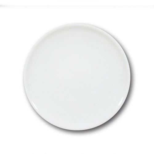 Lot de 6 assiette plate porcelaine blanche - D 28 cm - Siviglia