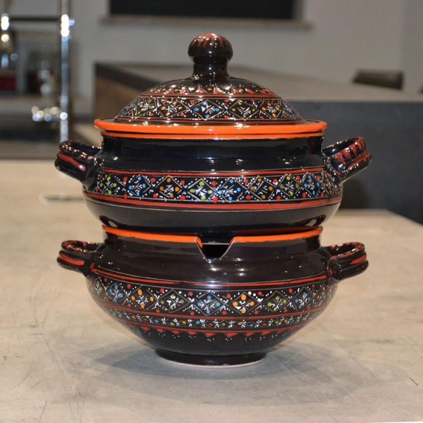 Couscoussier Marrakech Noir - Grand modèle