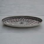 Plat ovale Bakir gris - L 50 cm