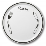Lot de 6 assiettes à pizza Noire - D 31 cm - Napoli