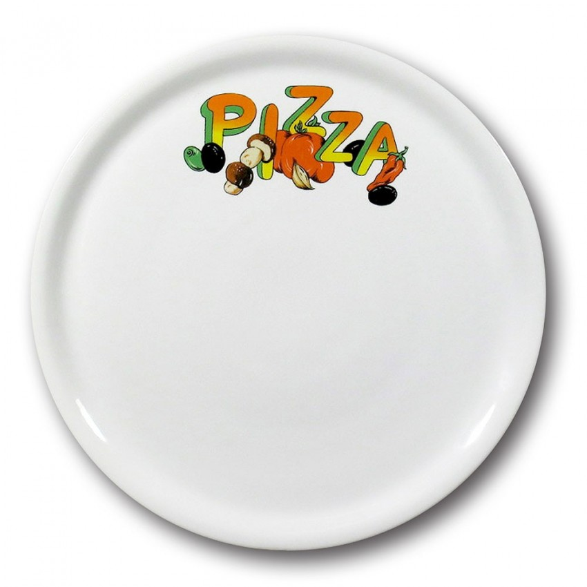 Lot de 6 assiettes à pizza Catane - D 31 cm - Napoli