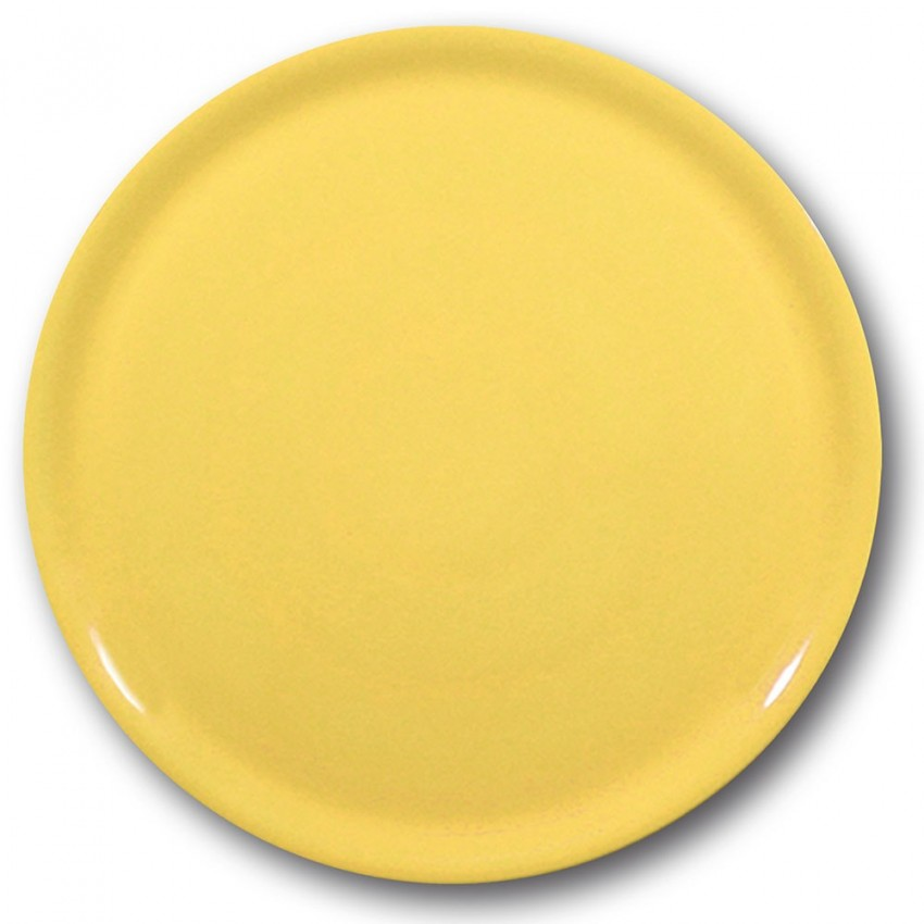 Lot de 6 assiettes à pizza Jaune - D 31 cm - Napoli