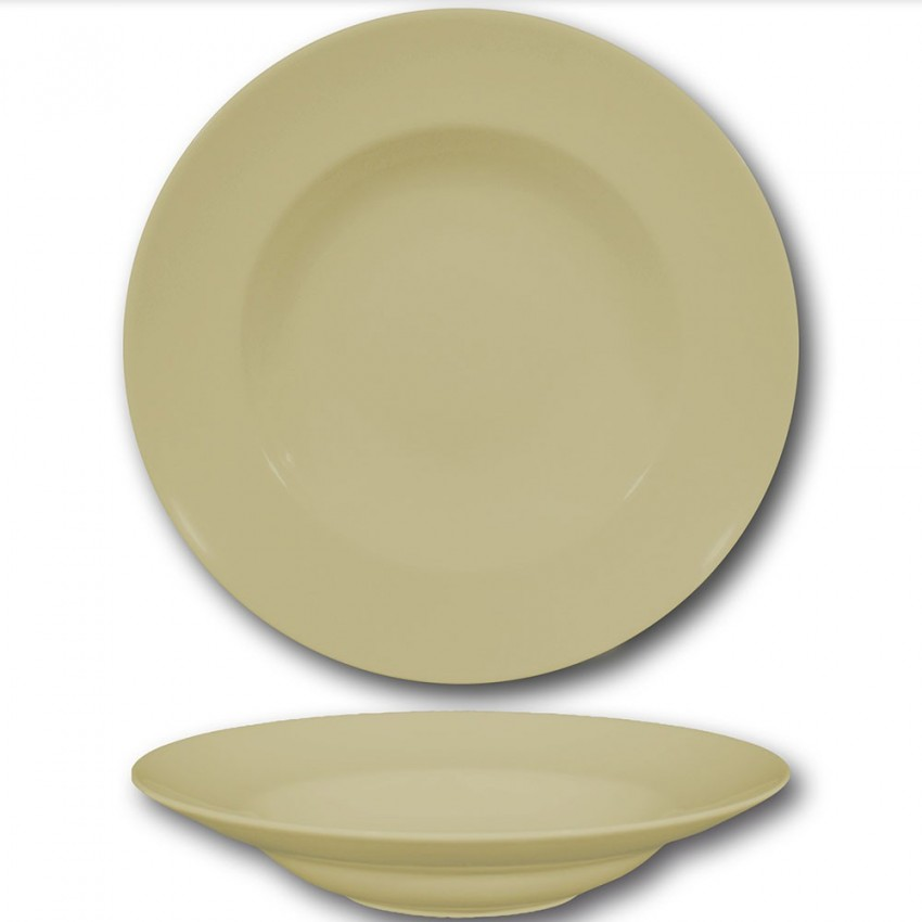 Lot 6 assiettes à pâtes crème - D 30 cm - Napoli