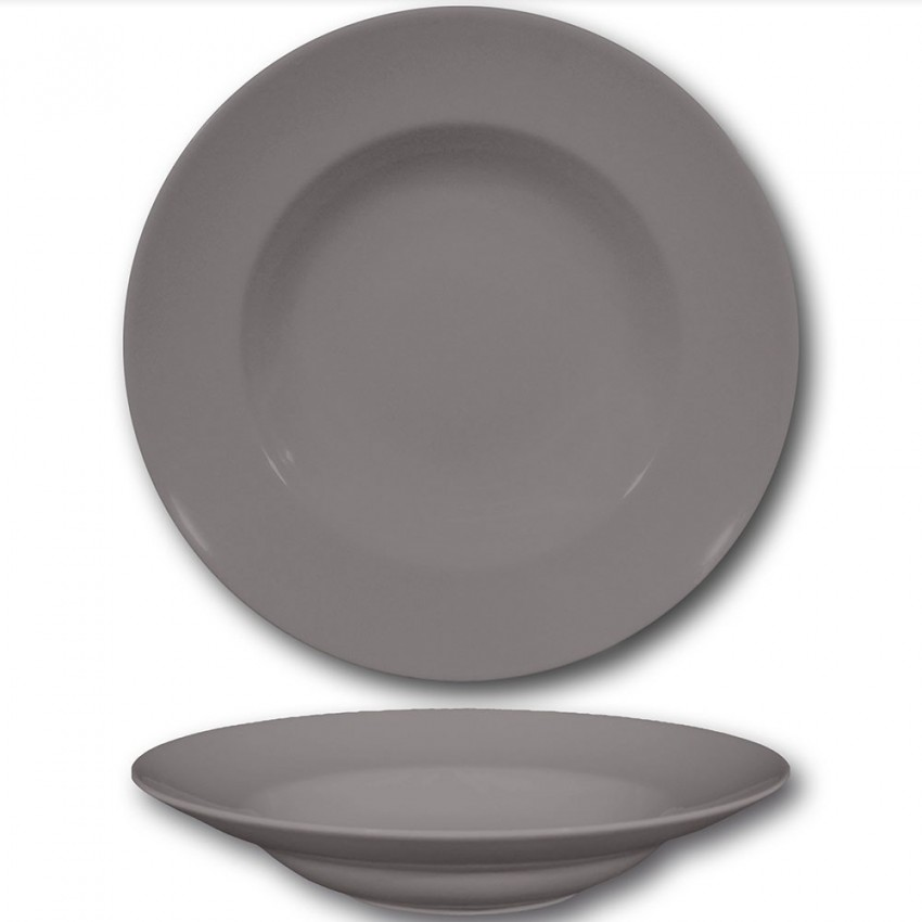 Assiette à pâtes Gris - D 26 cm - Napoli